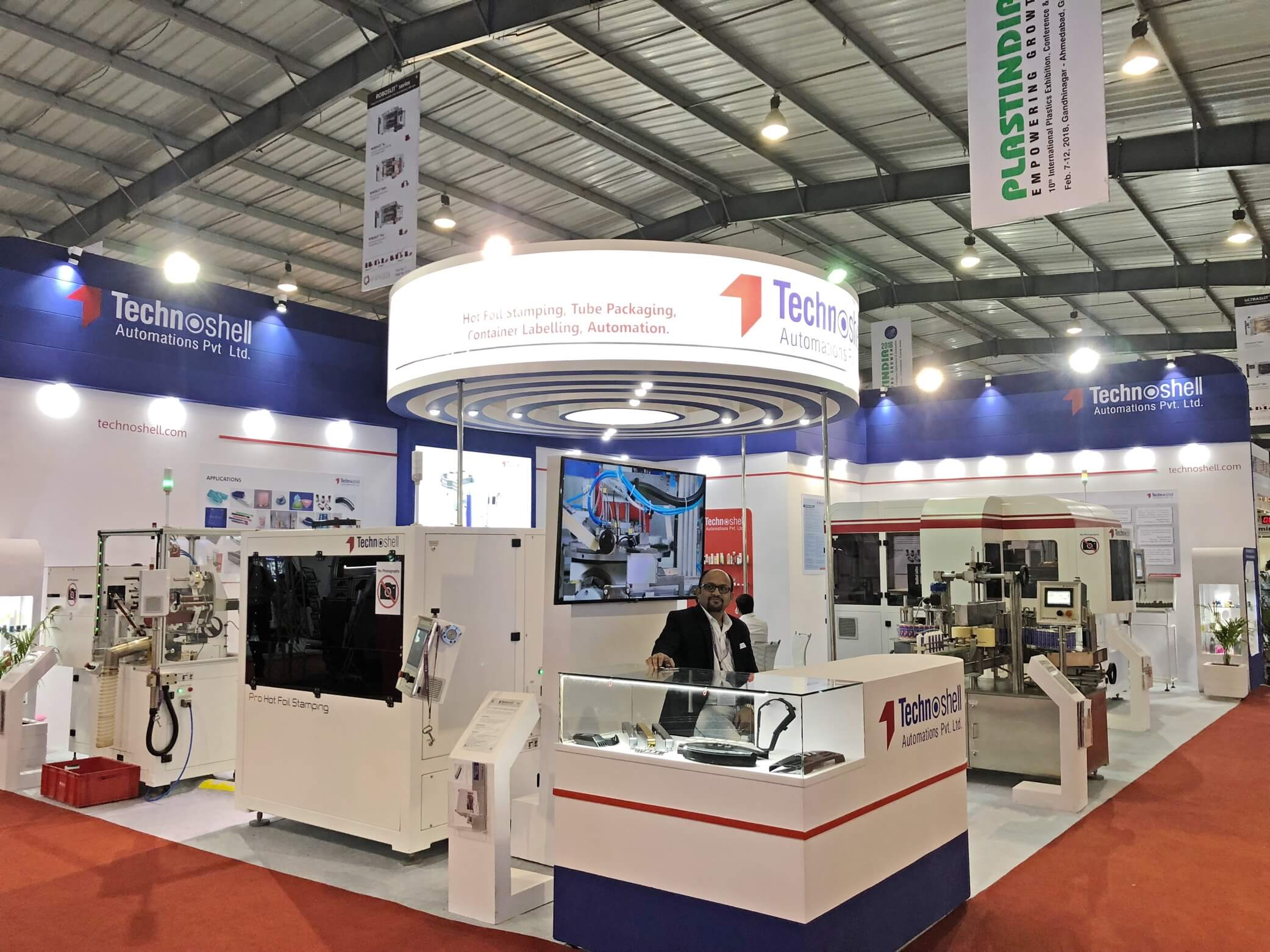 Technoshell exhibits at Plastindia 2018